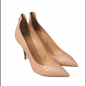 LEANDRO LOPES VANIA NUDE PATENT LEATHER PUMPS…